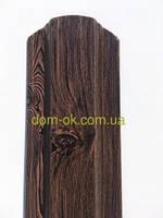 Металлический штакетник 113 мм, 108 мм Темное дерево/Темное дерево 0,4 Китай