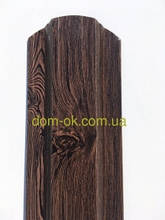 Металевий паркан напівкруглий і трапецевідний Темне дерево/Темне дерево 0,4 Китай
