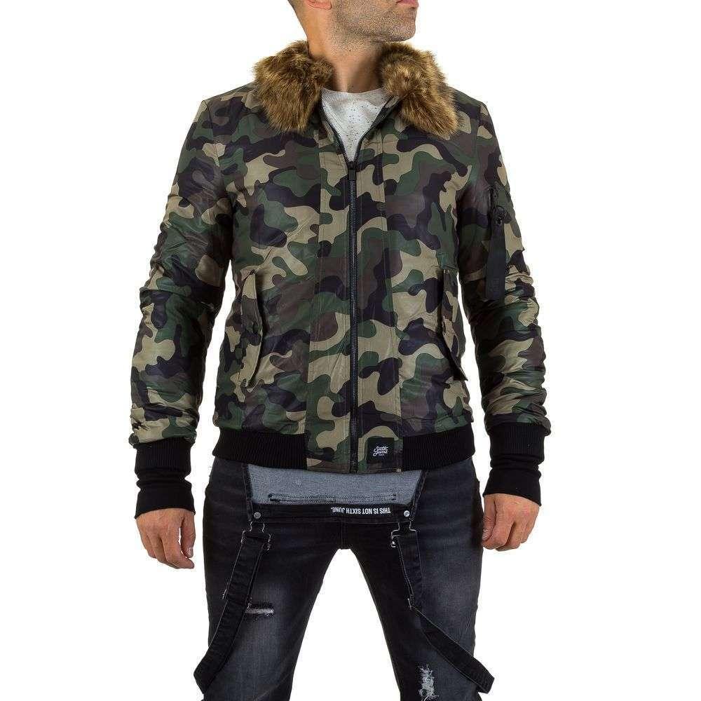 Куртка мужская с мехом Sixth June (Франция), Камуфляжный