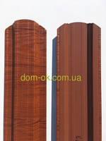 Штакетник металлический 113 мм, 108 мм Красное дерево 3D Китай, фото 1