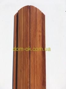 Штакетник металлический полукруглый и трапецевидный Сосна/Сосна,  0,38мм Китай