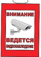 """Табличка """"Видеонаблюдение"""" 20х30 см"""
