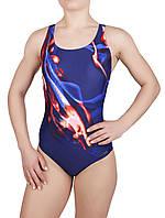 Купальник спортивный женский для плавания Rivage Line 8716, синий