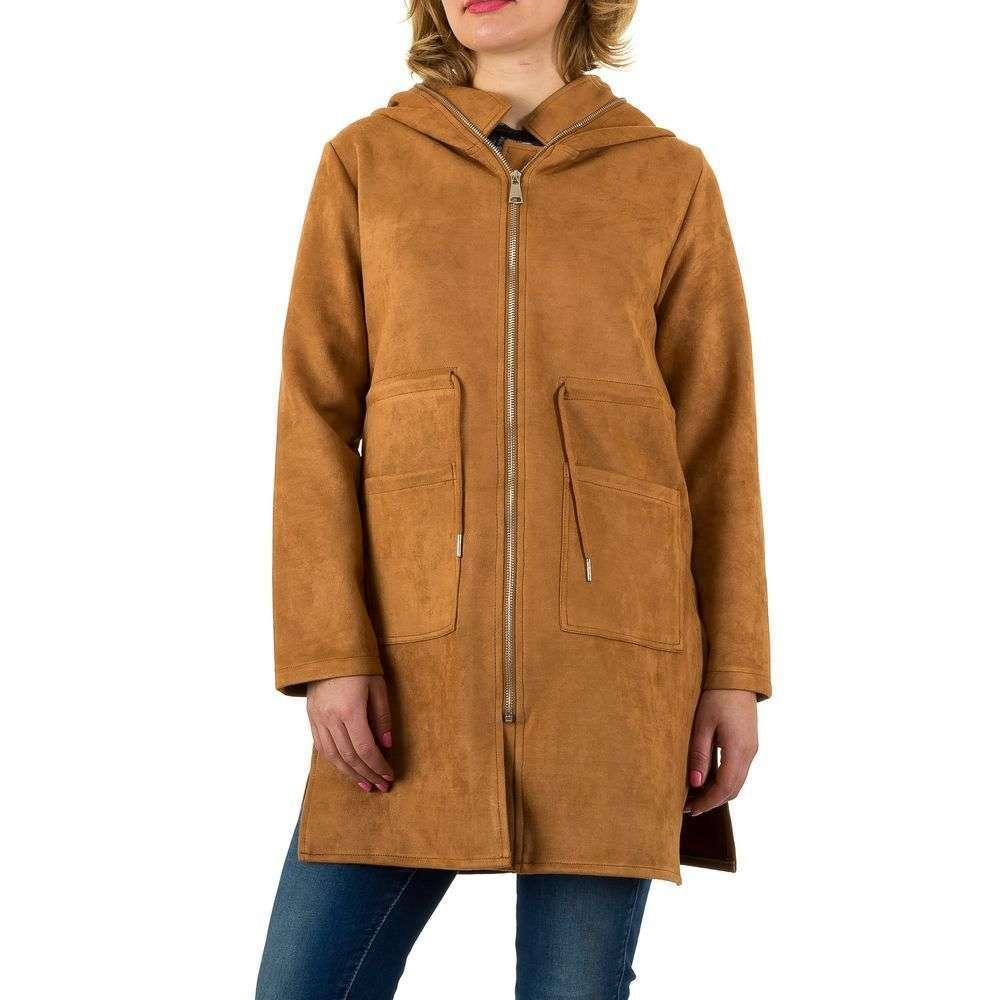 Пальто женское с капюшоном Shk Paris (Франция) Коричневый