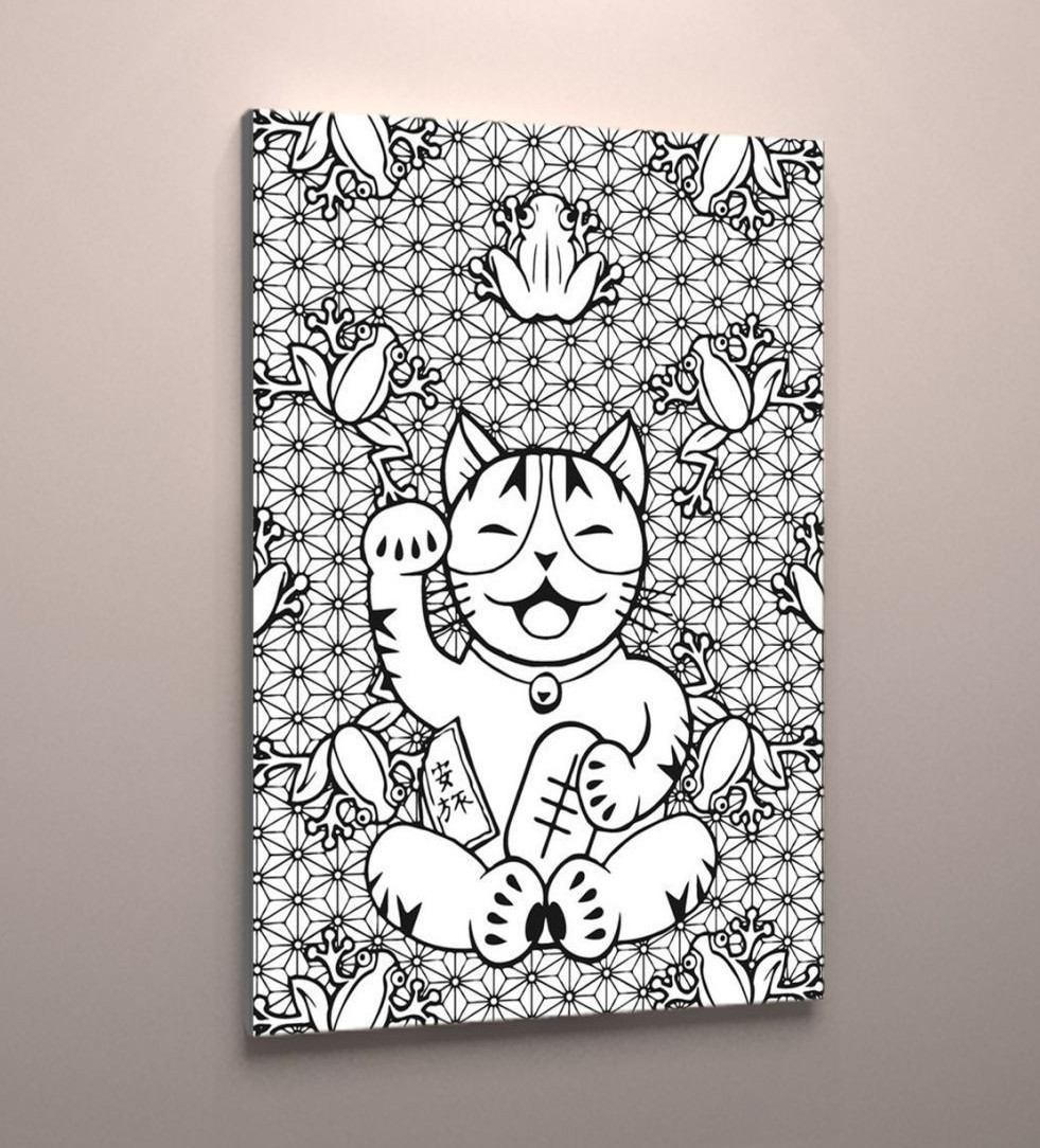 Картина раскраска антистресс на холсте подарок для детей и взрослых 60х40