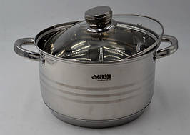 Набор кастрюль BN-231 (12 предметов) тяжелая нержавеющая сталь 6 кастрюль