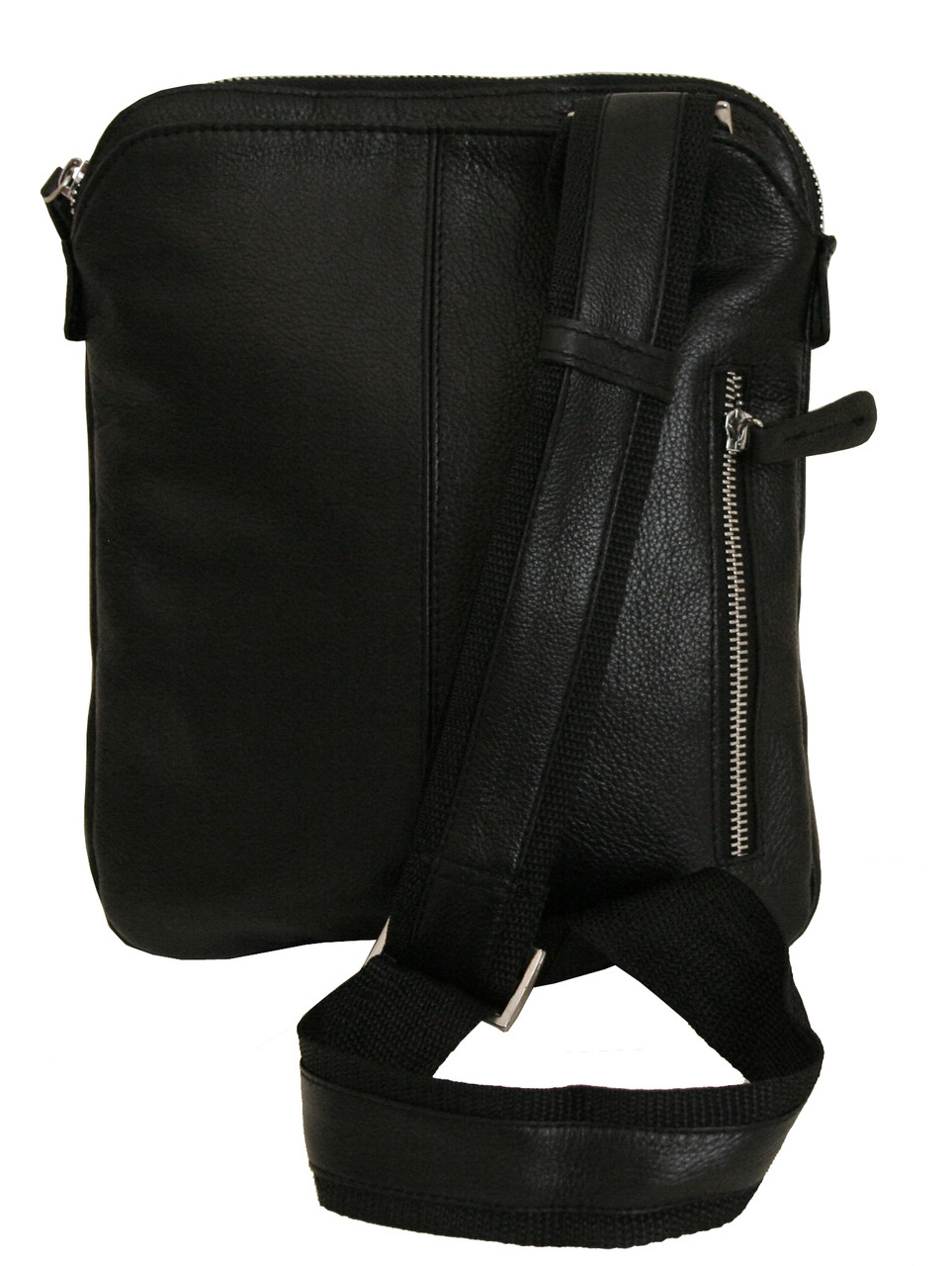 861c7517db33 Мужская сумка-мессенджер кожаная Vip Collection 1440-F Черная - ТОВ