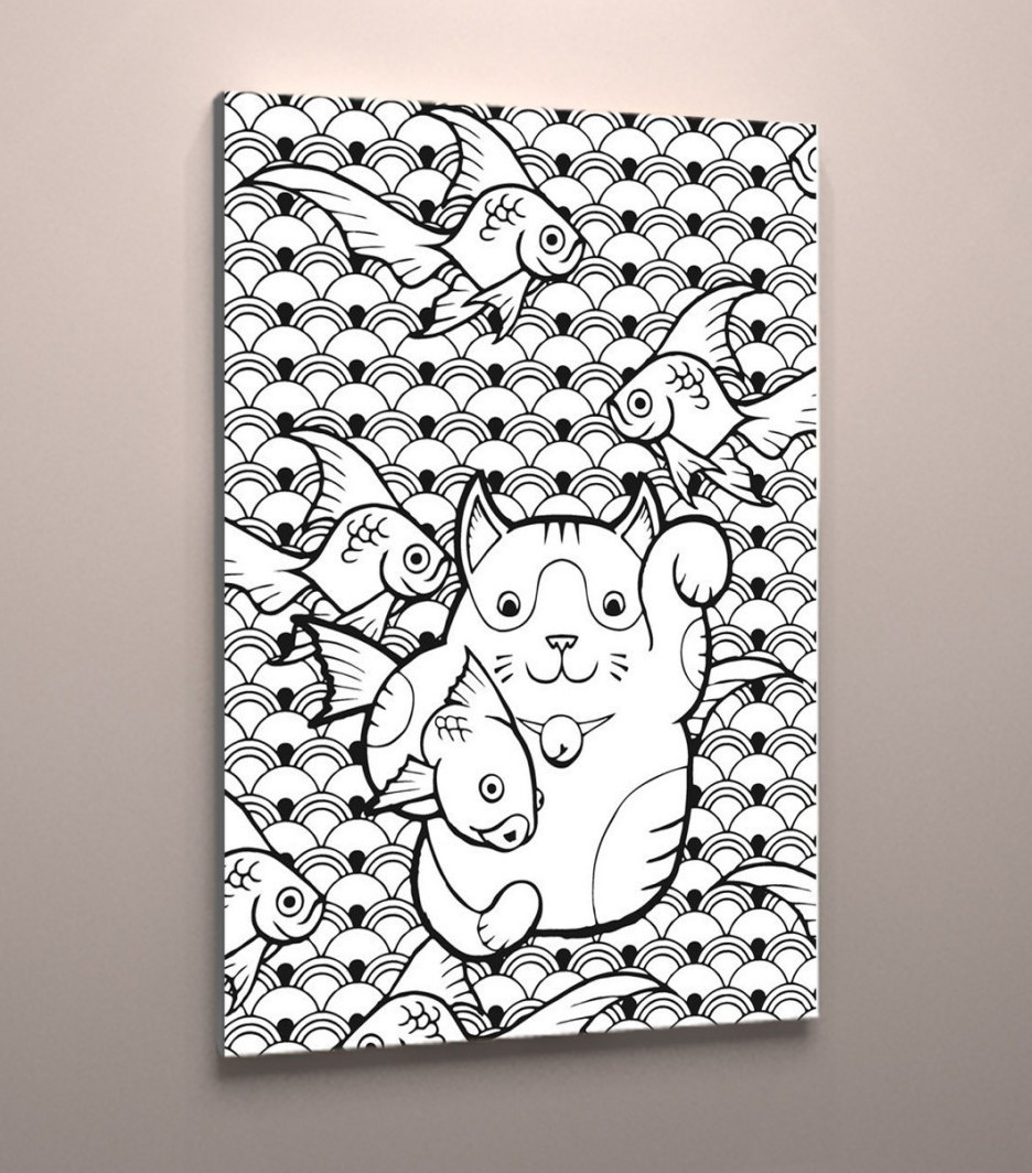 Картина раскраска на холсте подарок для детей и взрослых 60х40