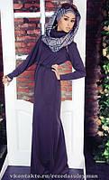 Платье макси воротник-хомут для мусульманок