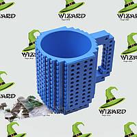 Кружка Лего конструктор синяя