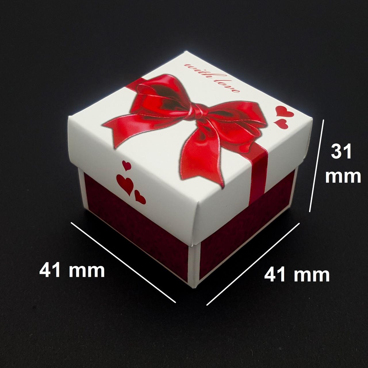 Подарочная коробка для бижутерии, I love You, с вкладышем