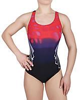 Купальник спортивный женский для плавания Rivage Line 8633, красно-черный