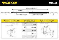 Газовый амортизатор крышки багажника Monroe ML5668 CITROEN C4 I