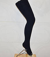 Ботфорты чулки темно-синие женские шерстяные. Высота 70 см.