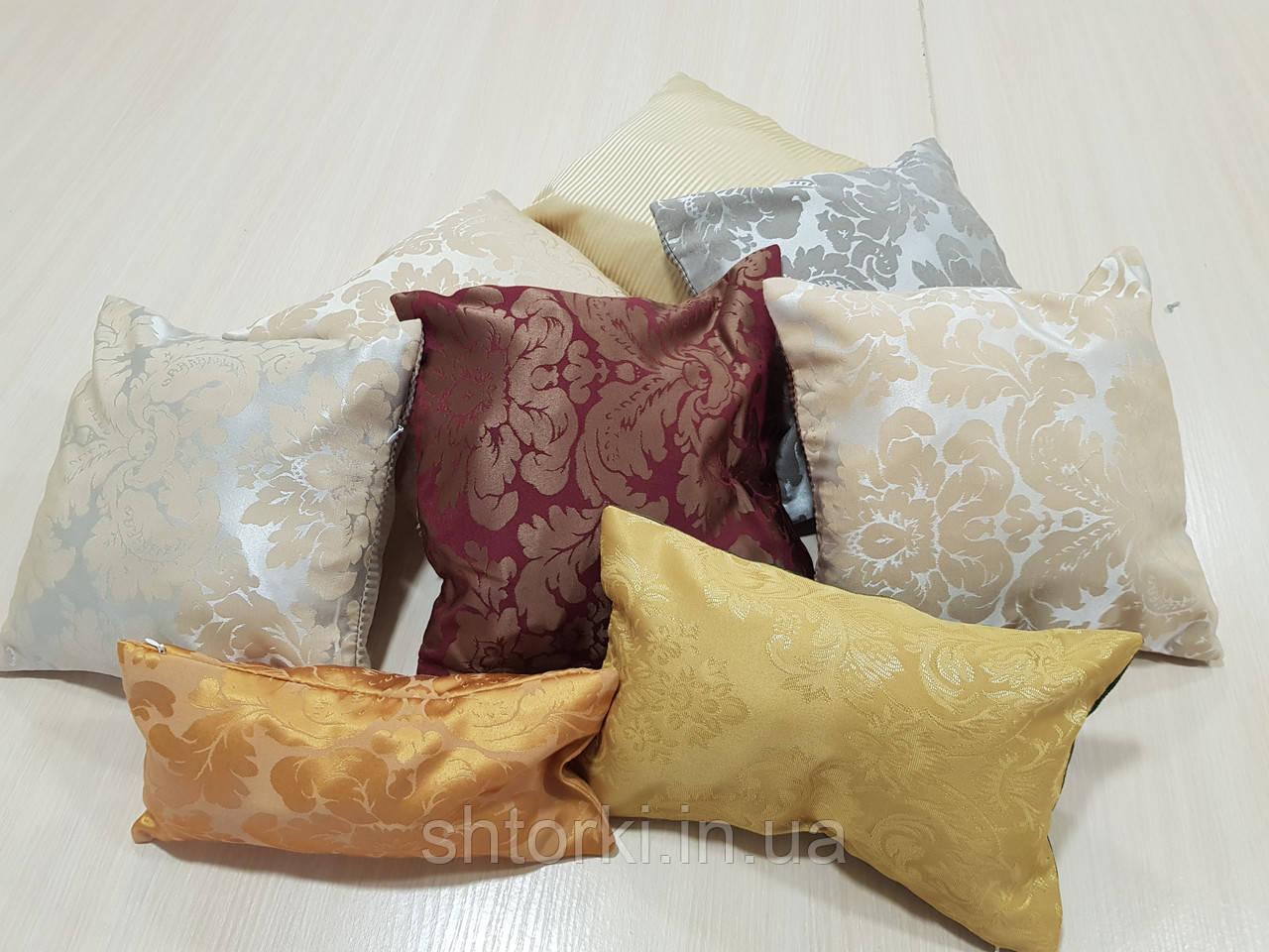 Комплект подушек  цветочки и полоски разноцветные,  8шт