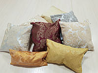 Комплект подушек  цветочки и полоски разноцветные,  8шт, фото 1