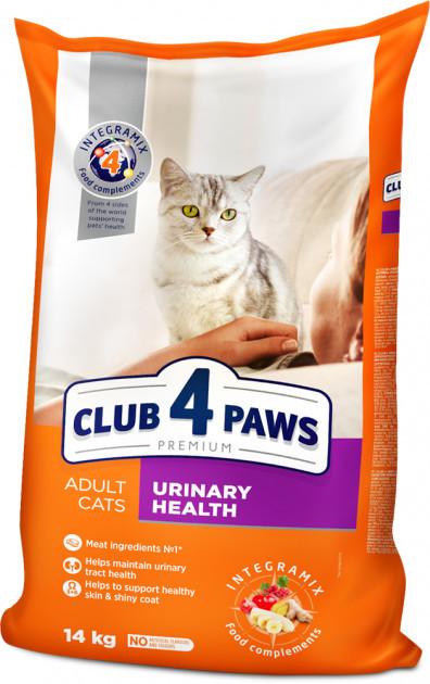 Сухой корм для кошек Клуб 4 лапы  здоровье мочевыделительной системы, 14 кг