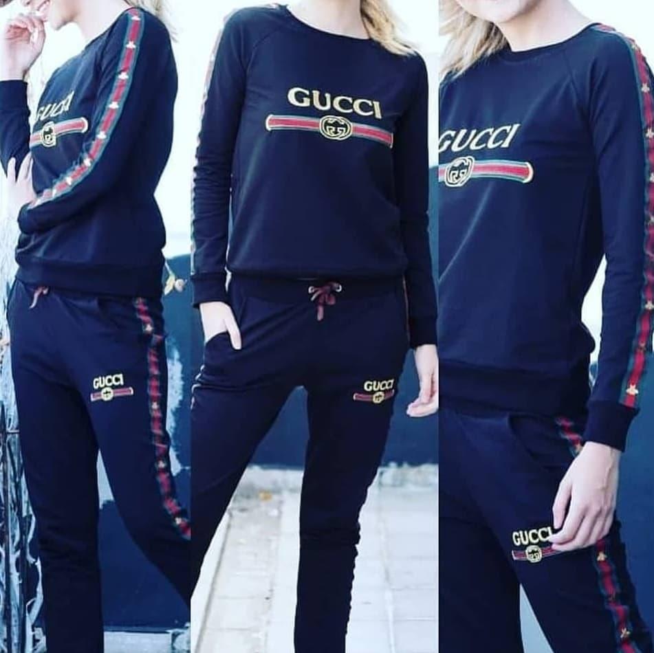 Женский спортивный костюм Gucci черный