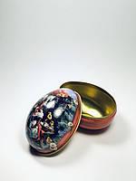Яйцо пасхальное металлическая коробочка для подарка,конфет на Пасху (красный)