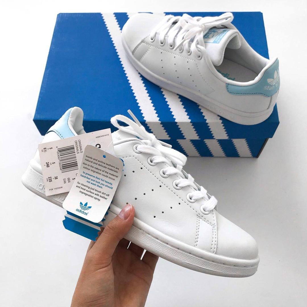 f3a140348b88a4 Женские Кроссовки Adidas Stan Smith White/Blue (36,37 рр): продажа ...