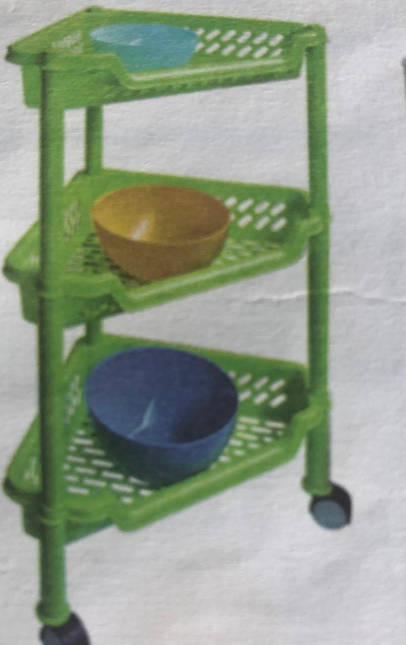 Етажерка пластмасова, кутова триярусна, Од