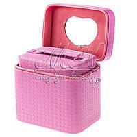 Кейс для косметики 2в1, розовый