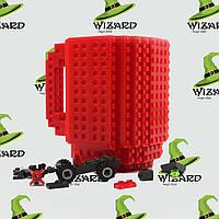Кружка Лего конструктор красная