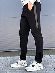 Тонкие Мужские спортивные штаны черного цвета  от производителя AV Sportswear