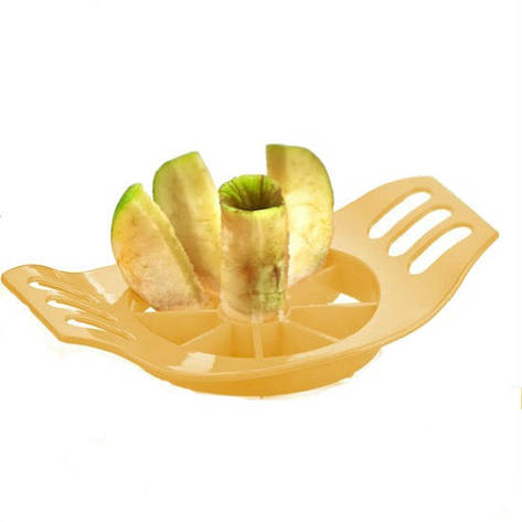 Ломтерезка для яблок, пластик, желтый, фото 2