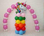 Гирлянда с воздушных шариков (бело-розовая) + насос, фото 9