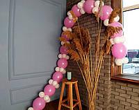 Гірлянда з повітряних кульок (біло-рожева) + насос для повітряних кульок в комплекті