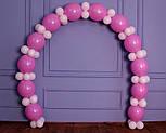 Гирлянда с воздушных шариков (бело-розовая) + насос, фото 3