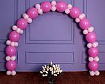 Гирлянда с воздушных шариков (бело-розовая) + насос, фото 5