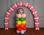 Гирлянда с воздушных шариков (бело-розовая) + насос, фото 8