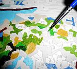 """Рисование по номерам """"Щенки и бурундучек"""" (MG1132, КН1132), 40х50см., фото 4"""