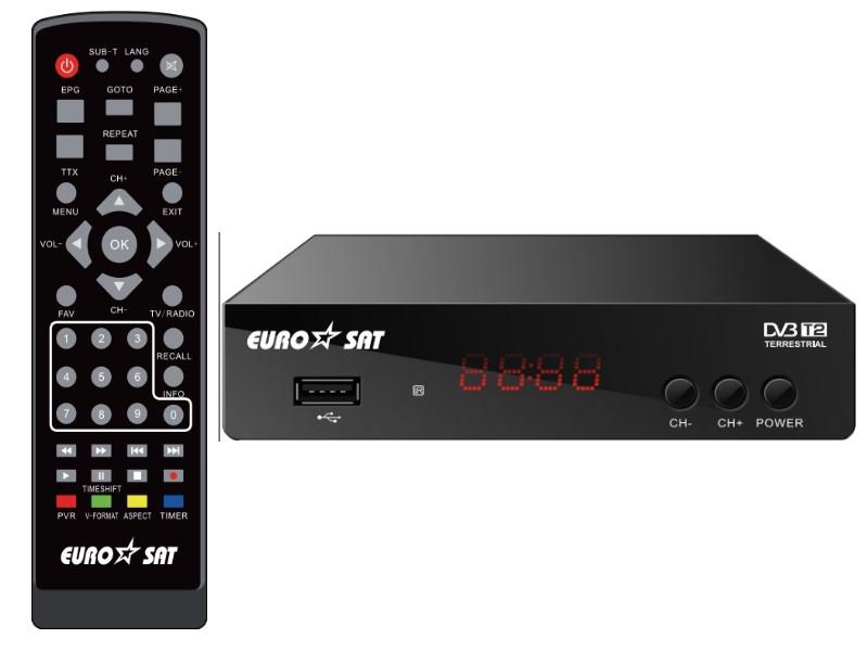 Тюнер Т2 (ТВ-ресивер) DVB-T2 EUROSAT