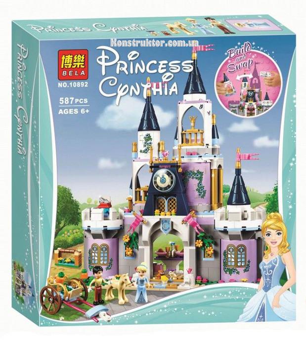 """Конструктор Bela 10892 """"Волшебный замок Золушки"""" 587 деталей. Аналог Lego Disney Princess 41154"""