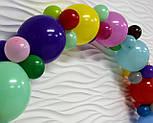 Гирлянда с воздушных шариков (радужная) /большие шарики/, фото 3