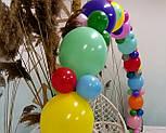 Гирлянда с воздушных шариков (радужная) /большие шарики/, фото 5