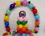 Гирлянда с воздушных шариков (радужная) /большие шарики/, фото 7