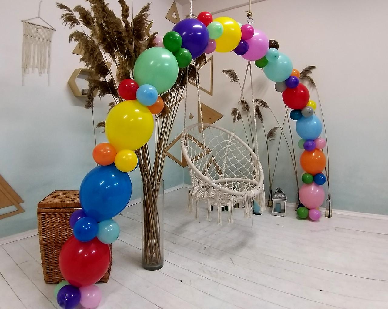 Гирлянда с воздушных шариков (радужная) /большие шарики/