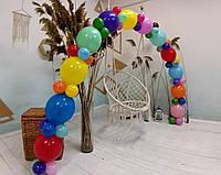 Гірлянда з повітряних кульок (райдужна) /великі кульки/