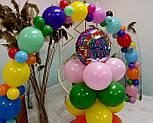 Гирлянда с воздушных шариков (радужная) /большие шарики/, фото 9