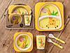 Бамбуковый набор детской посуды (ЭКО) «Жираф».