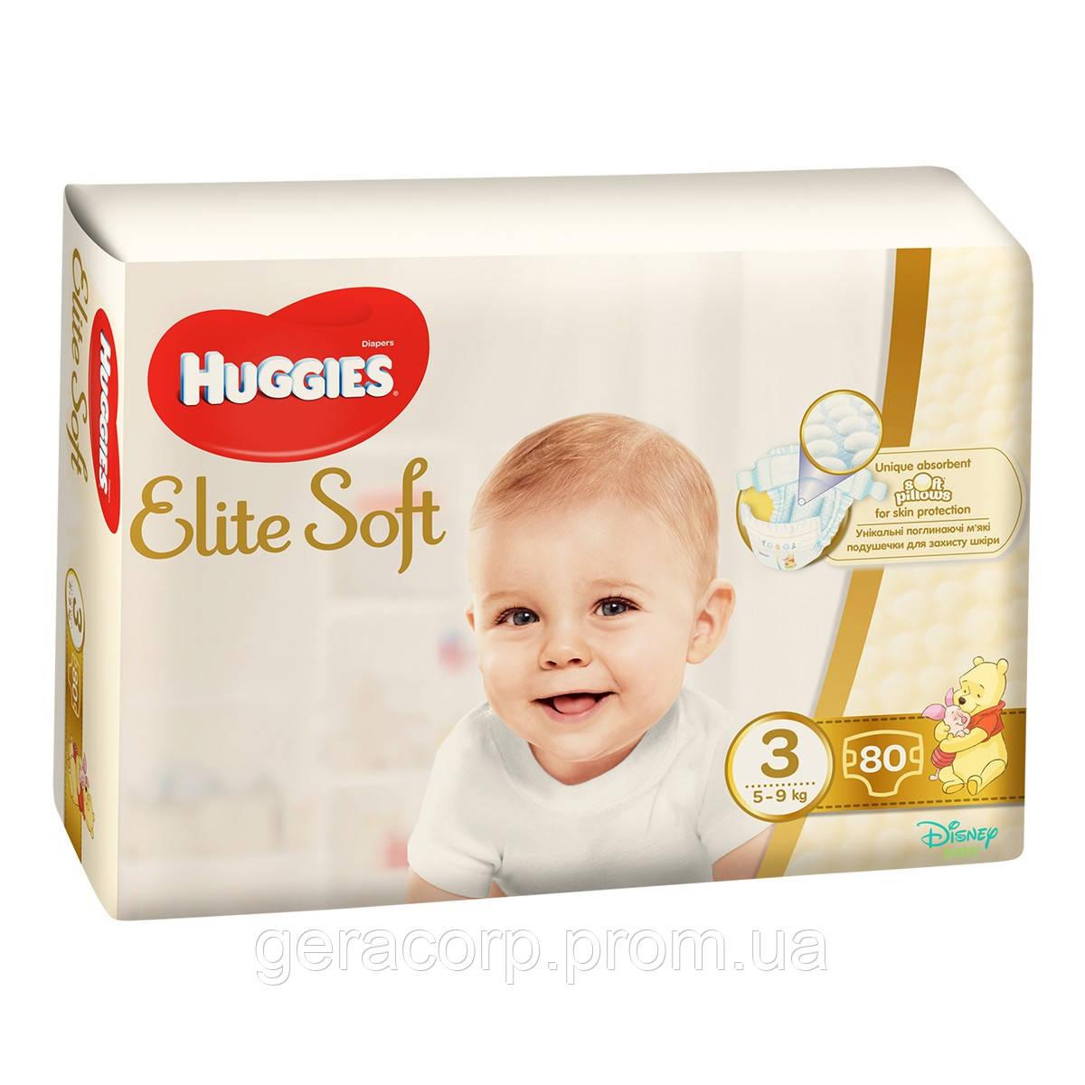 Подгузники Huggies Elite Soft 3  80 шт