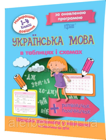 1-4 клас / Українська мова. Таблиці та схеми. Найкращий довідник / Щербак / Торсинг