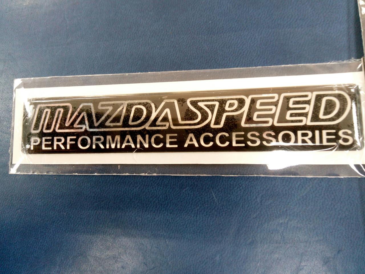 Силиконовая 3D наклейка  MAZDA SPEED  11,5х2