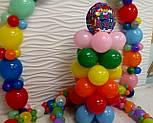 Гирлянда с воздушных шариков (радужная) /маленькие шарики/, фото 9