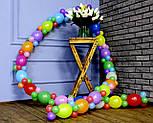 Гирлянда с воздушных шариков (радужная) /маленькие шарики/, фото 7