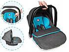 Дитяче автокрісло Автолюлька Lionelo Noa Plus (0-13 кг) Vivid Turquoise, фото 5
